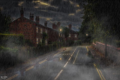 A Bend in the Road (Kev Walker ¦ 7 Million Views..Thank You) Tags: rain clouds streetlights streetlamps reflections canon1855mm house trees fog mist
