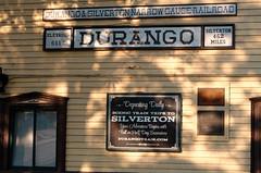 Durango station IMG_5253 Durango & Silverton RR (Recliner) Tags: baldwin dsng drg
