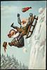 Humoristisk julemotiv tegnet av Wilhelm Larsen (National Library of Norway) Tags: nasjonalbiblioteket nationallibraryofnorway postkort postcards julekort christmascards jul christmas wilhelmlarsen øl beer alkohol alcohol sleder kjelker aking kartongkort overrekkelseskort