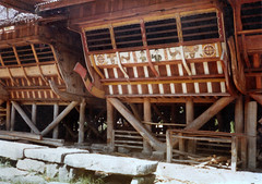 Traditional house, Nias, 1980 (Elios Amati) Tags: eliosamati indonesia traditionalhouse nias sumatra architecture