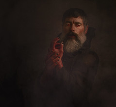 The dark man. Happy Hallowen. (jcalveraphotography) Tags: portrait photo photographer projects people picture pictorialism dark darkness hallowen male selfportrait selfie serie studio bearded person creative conceptualimage 365 explore eyes 365days blood red