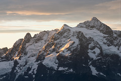 Mt Shuksan at Dawn (CMWilhelm) Tags: mount mt shuksan north cascades baker national forest yellow aster butte glacier snow mountain dawn morning cloud