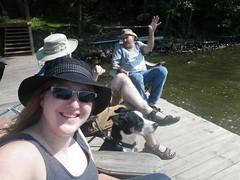 Lake Lenore 2017-09-10 - 2 (s.kosoris) Tags: skosoris pentaxoptiowg1 wg1 pentax lakelenore camp camping me dad friend puppy dog selfie