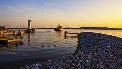 Ferry (Joni Mansikka) Tags: nature outdoor archipelago sea shore calm ferry sunset sky clouds colours landscape silhouettes balticsea lillmälö pargas suomi suomi100 finland finland100 canonef2470mmf28lusm