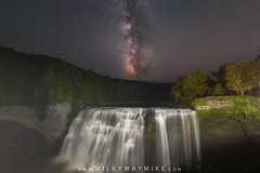 Middle Falls Milky Way (Mike Ver Sprill - Milky Way Mike) Tags: middle falls letchworth state park letch worth new york ny waterfalls water fall waterfall beautiful nightscape nightscaper milky way galaxy stars universe travel explore upstate nature landscape astrophotography astronomy long exposure light painting composite