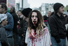Seule au mileu de tous (Claire Trefle) Tags: zombie walk paris déguisement maquillage make up femme woman blood sang scary peur
