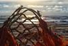 Strandgut - jetsam (mare photo) Tags: strandgutjetsam fischernetz fishingnet texel sundown sonnenuntergang marephoto detail strand beach magiclight