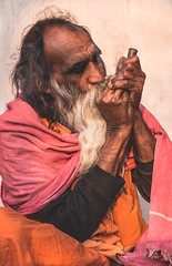 Rajasthan - Pushkar - Outskirts Holy Man-8
