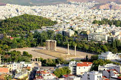 Temple of Olympian Zeus (ika_pol) Tags: athens acropolis greece geotagged ancient ancientgreece antiquity ancientruins partenon architecture ancientarchitecture