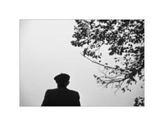 Arre. 1998 (José Luis Cosme Giral) Tags: arre1998 moments bw oldman tree alone nikon fm2 scanned navarra