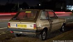 Ford Fiesta 1.1 L 1982 (XBXG) Tags: ht60yz ford fiesta 11 l 1982 fordfiesta spaarndamseweg haarlem nederland holland netherlands paysbas vintage old classic german car auto automobile voiture ancienne allemande deutsch deutschland germany vehicle outdoor