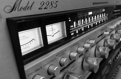 A week of black & white. (DjD-567) Tags: blackwhite brushedfaceplate hifi audio vintage receiver 2285 marantz amp 1978