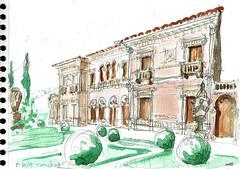 La villa Ephrussi de Rothschild, presqu'île du cap Ferrat (Croctoo) Tags: croctoo croctoofr croquis aquarelle watercolor capferrat villa jardin