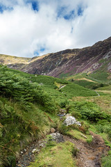Winding Path (Howie Mudge LRPS BPE1*) Tags: sky clouds summer 2017 landscape nature ngc nationalgeographic hills mountain path pathway grass ferns bracken light shade outside outdoors greatoutdoors travel travelling traveller gwynedd wales cymru uk valley cwm caderidris photo photograph photography photographer landscapephotographer canon canoneos80d snowdonianationalpark efs18135mmf3556isstm