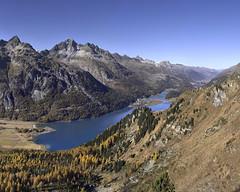 Lake Silvaplana (Karl Le Gros) Tags: lake silvaplana engadin switzerland graubünden 2017 silvaplanersee xaviervonerlach panorama landscape pizpolaschin pizalbana furtschellas