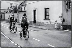 D'hier et d'aujourd'hui (bertranddorel) Tags: urban ville street streetphoto bnw blackandwhite noiretblanc bicycle ancien cycliste homme men human rue slovénie balkans bw kamnik monochrome europe nikon