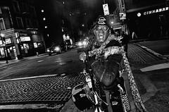 Outside Jonell's - 2 (draketoulouse) Tags: san francisco sanfrancisco california tenderloin ellis jones street streetphotography people monochrome blackandwhite city urban night cinnabar contrast