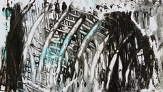 Escape from Hell (m m_pics) Tags: escape escaping hell painting ladder ladders art artistic drawn abstract escapefromhell escapingfromhell fliehen leiter hölle finster unterwelt abstrakt kunst