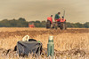 Ploughman's lunch (tom ballard2009) Tags: fittleworth petworth sussex match ploughing tractor ploughman lunch field red bag thermos flask
