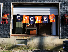 Day 280 Go Eagles (Dragon Weaver) Tags: 1007 2017 homecoming shirts sign berryville pad