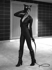 P1040057 b (Paul Ocejo) Tags: nycc 2015 jacob javits center new york city manhattan hells kitchen cosplay comiccon comic con catwoman bw black white