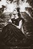 Saevitia dark (Chloé +++) Tags: portrait people girl female femme fille woman humain makeup mua dark fantasy dress queen princess princesse hair face canon eos dof depthoffield france french