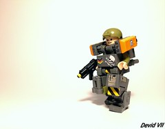 Military Trooper X59 (Devid VII) Tags: militarycrew crew military devidvii devid vii moc mech mecha olive orange happy lego