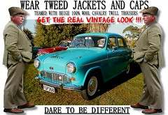 Get the  real vintage look  part 20 (80s Muslc Rocks) Tags: nz newzealand car cars auto autos vehicle vehicles retro vintage club rally vintagecar oldcar canon cavalrytwilltorusers wool plaid scottish scotland british uk thetweedride tweedflatcap cheesecutter gent man fashion oldschool houndstooth outdoor sky grass oldcars parked carshow poster artwork manwearingtweed wearrtweed yorkshire auckland whangarei tauranga gisborne hastings napier hamilton newplymouth plamerstonnorth wellington nelson christchurch dunedin invercargill distinguishedgentlemensride sydney london melbourne