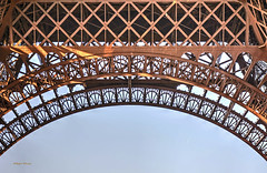 ironwork (albyn.davis) Tags: eiffel architecture architecturalabstract building structure ironwork shapes squares arch europe paris france golden gold color sky blue
