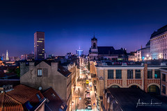 Brussels By Night I (Alec Lux) Tags: architecture belgium bluehour brussel brussels building city cityscape lights longexposure nighshot night nightscape roofs rooftops skyline street urban brusselshoofdstedelijkgewest be