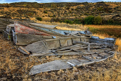 Pieces and Parts (KPortin) Tags: twinlakesrecreationarea boats abandonedboats deteriorated derelict landscape channeledscablands explore