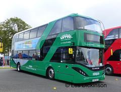 First fleet of Gas-powered 'deckers at Nottingham,   P1120706 (LesD's pics) Tags: bus coach showbus2017 yp17ufc gaspowereddecker nottinghamcitytransport scania adl nottingham403