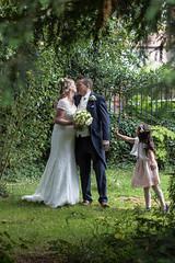 Not now dear. (JRPics.) Tags: wedding kiss interruption trees canopy churchyard flowers couple girl