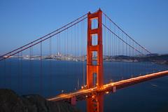 Golden Gate bridge (Mettwoosch) Tags: sanfrancisco goldengate bridge california usa america west coast bay city bluehour longexposure lights kalifornien amerika küste wasser water lichter langzeitbelichtung stadt skyline eos 5dm3 ef lens 5d3 outdoor travel vacation holiday urlaub architecture architektur himmel sky brücke bucht