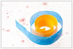 Paper Spiral (EddieAC) Tags: macromondays spiral paper colour color blue orange foodcolour foodcolor