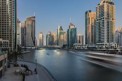 Dubai Marina (jelleteusink) Tags: long exposure dubai city marina water buildings architecture boats