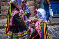 Daily parades in Cusco included children of all ages.