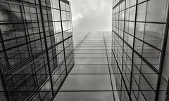 Central London (Mikey_D_M) Tags: centrallondon lookup glassstructure architecturalreflection reflection skyscrapers uk architecturalbeauty blackandwhitebeauty blackandwhite