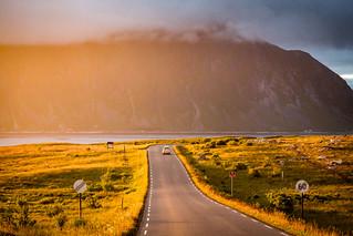 Midnight Sun, Ramberg, Flakstadøya, Lofoten, Norge