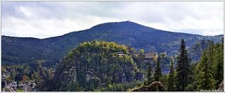 Blick von der Teufelskanzel auf Hochwald und Oybin
