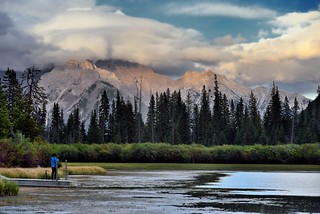 Taking a Photo of a Photographer (Banff National Park)