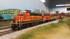 BNSF 2715 EMD GP39-2 (HO Scale) (Trucks, Buses, & Trains by granitefan713) Tags: train modeltrain hoscale layout railroad club hmrrc hudsonmodelrailroadclub bnsf burlingtonnorthernsantafe emd electromotive gp392 atlas
