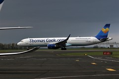 G-TCDB THOMAS COOK AIRBUS A321 NEWCASTLE (toowoomba surfer) Tags: airline airliner aviation aircraft jet aeroplane ncl egnt