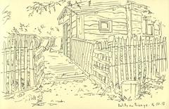 Batilly-en-Puisaye (lolo wagner) Tags: urbansketchers usk croquis sketch batillyenpuisaye loiret cabane