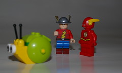OLD FLASH : I can't believe that snail beat me ! (kingkong21) Tags: flash dccomics snail