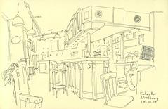 Au bar Trolley - Strasbourg (lolo wagner) Tags: urbansketchers usk croquis sketch strasbourg bar café