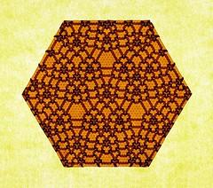 Extended Open Connection 5 (Marjan Smeijsters) (De Rode Olifant) Tags: extendedopenconnection5 openconnection5 butterflymolecule tessellation origami paper paperfolding marjansmeijsters hexagon triangle extendedconnection4