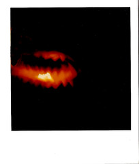 Halloween1 (MindsiMedia 2012) Tags: polaroidsx70 polaroid instantphotography spooky halloween halloweendecorations jackolanterns