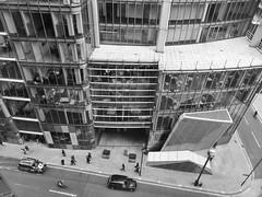 Margin Calls (Douguerreotype) Tags: monochrome buildings street car window city bw finance uk taxi british mono gb blackandwhite architecture britain urban england london people glass