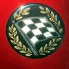 Checkered Flag Emblem (byzantiumbooks) Tags: flag checkeredflag wreath laurels